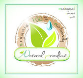 Naturally healthy label — Stock Vector