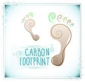 Carbon footprint with floral motifs — Stockvektor