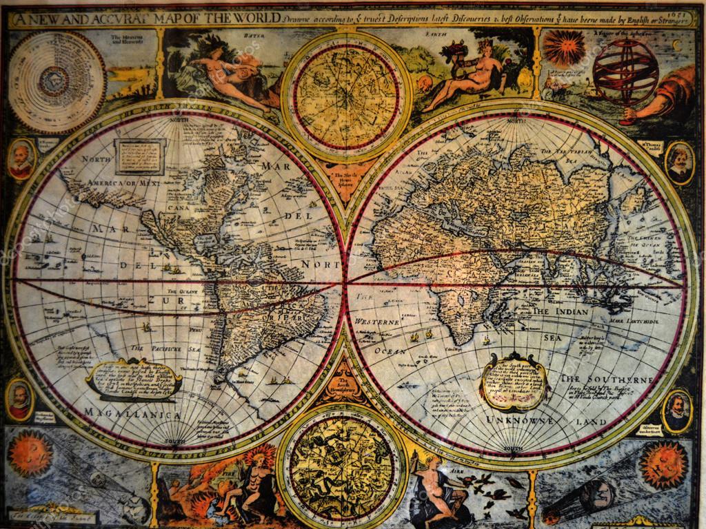l 39 ancienne carte du monde photo 22684741. Black Bedroom Furniture Sets. Home Design Ideas