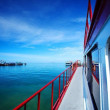 On the boat at Samui Island South of Thailand — Stock Photo
