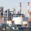 Petrochemical industrial plant or oil refinery — Stock Photo