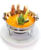 Prawn and lemon grass soup — Stock Photo