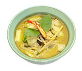 Green curry vegetables — Stockfoto