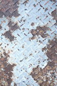Corroded steel floor for background — Stockfoto