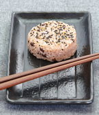 Japans eten onigiri rijst bal — Stockfoto