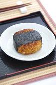 Japanese food Onigiri rice ball — Stock Photo
