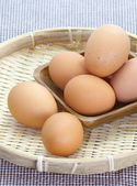 Chicken brown eggs — Stock Photo