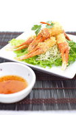 Crunchy fried crab leg — Stock Photo
