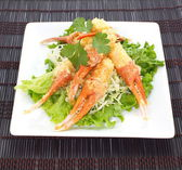 Crunchy fried crab leg appetizer — Stock Photo