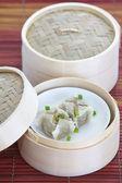 Kinesisk ångad dumpling — Stockfoto