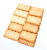 Stack of square crackers — Stock Photo