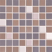 Modern mosaic concrete tiles wall — Stockfoto