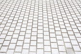 White concrete tile wall — Stock Photo