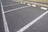 Car parking Lot at outdoor With White Marking — Stock Photo