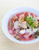 Rice noodles soup — Stock Photo