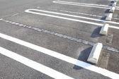 Parking lane outdoor in public park — Stock Photo