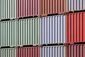 Stacked cargo containers — Stock Photo