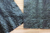 Several strips of dried seaweed sheets — Stock Photo