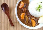 Kari rýže, japonské jídlo — Stock fotografie