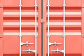Stacked cargo containers — Foto de Stock