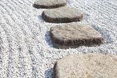Zen stones path — Stockfoto