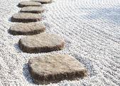 Zen stone path — Stock Photo