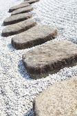 Zen stenen pad — Stockfoto