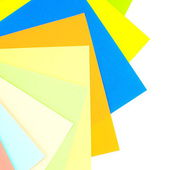 Colored papers background — Stock Photo