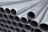Pila de tubos de acero — Foto de Stock