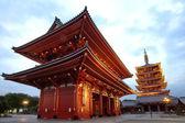 Japonský červený pagoda, Tokio — Stock fotografie