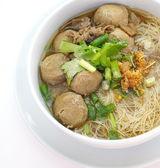 Estofado de ternera sopa de fideos — Foto de Stock