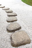 Zen stone path — Foto Stock