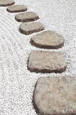 Zen stone path — Stockfoto