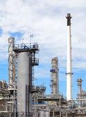 Planta industrial petroquímica — Fotografia Stock
