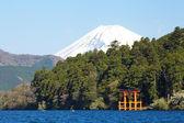 Lago de la montaña Fuji y Achi en temporada de invierno — Foto de Stock
