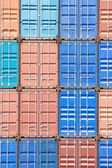 Stacked cargo containers — Stok fotoğraf