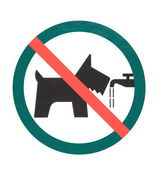 No dogs or pets — Stock Photo