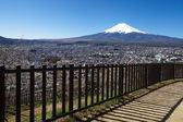 Mountain Fuji in spring ,Cherry blossom Sakura — Stock Photo