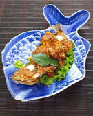 Fish in Dried Red Curry, Thai food — ストック写真