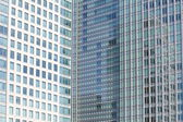 Perfect blue glass high - rise corporate building — Stockfoto