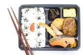 Japanese ready-made lunchbox — Stock Photo