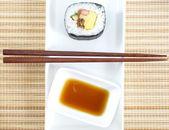 Makizushi lahodné sushi roll — Stock fotografie