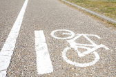 Bicycle sign, Bicycle Lane — Stock Photo