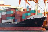 Nákladní nákladní loď — Stock fotografie