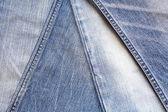 Veel verschillende blue jeans — Stockfoto