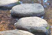 Zen stone path in a Japanese Garden — Stock Photo