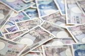 Japanese yen notes. Currency of Japan — Stock Photo