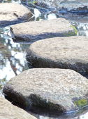 Zen stone path in a Japanese Garden — Stock fotografie