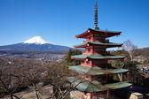 Japanese red pagoda ,Tokyo — Stockfoto