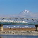 Japan bullet train shinkansen — Stock Photo #47088491